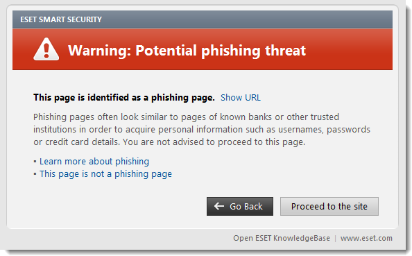 detect website malware - phishing attempt